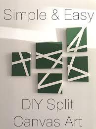 Diy Canvas Art Simple And Easy Diy Split Canvas Art Useful Origami