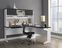 com altra furniture pursuit l shaped desk with hutch bundle white gray kitchen dining
