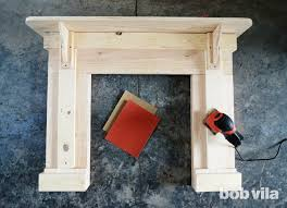 how to build a faux fireplace step 6
