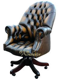 vintage office chair for sale. Antique Directors Chair Chesterfield Office Gold Leather Vintage For Sale L