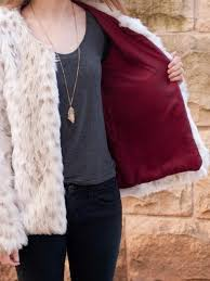 faux fur jacket with lining
