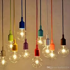 diy e27 chandelier light fixture hanging line colorful silicone rubber ceiling vintage pendant lamp holder e27 lamp socket
