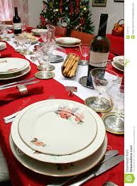 Christmas Table Setting Christmas Table Setting Royalty Free Stock Photography Image