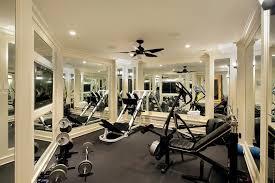 mediterranean home gym decorating ideas stylish gym mirror