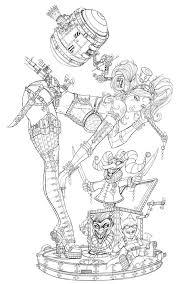 Steam Punk Harley Quinn Line Art By Jamietyndall On Deviantart