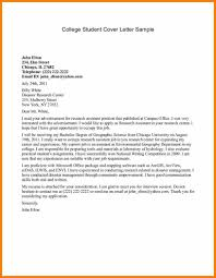College Cover Letter Examples 76 Images 6 College Student