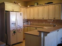 Cream Antiqued Kitchen Cabinets All About House Design Best