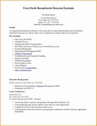 Sample Resume For Medical Receptionist Medical Front Desk Resume New Resume Medical Receptionist 37