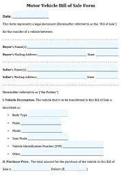 15 Simple Bill Of Sale For Vehicle Sample Paystub