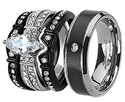 his and hers wedding sets. his and hers wedding ring sets couples matching rings black women\u0027s stainless steel cubic zirconia