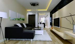 ideas contemporary living room: black couch facing led tv on nice wall fit to contemporary living room decorating ideas