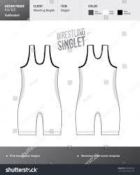 Wrestling Singlet Design Maker Singlet Vector Template Wrestling Tricot Design Stock Vector
