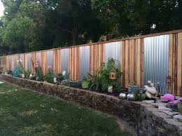 accent an ordinary fence with sheet metal15 privacy fences that will turn your yard into a secluded oasis metal privacy t51 metal