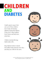 Child Diabetes Chart Diabetes Information Pdf Forms For Consumers Learning