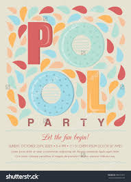 pool beach party invitation template card stock vector  pool or beach party invitation template card