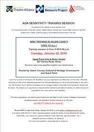 ADA Sensitivity Training Session NJ Heartland