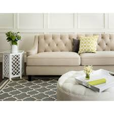 Abbyson Claridge Beige Velvet Fabric Tufted Sofa - Free Shipping Today -  Overstock.com - 16738165
