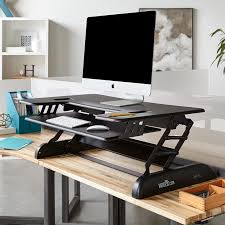 home office standing desk. the varidesk cube plus 40 heightadjustable cubicle standing desk easily converts your existing desktop into an adjustableheight workstation home office