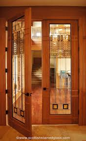 home office doors with glass. Beautiful Frank Lloyd Wright Style Stained Glass Door. Http://www.scottishstainedglass Home Office Doors With O