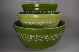 Pyrex Color Chart Pattern Spring Blossom Green 2 The Pyrex Collector