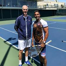 "Prakash Amritraj a Twitter: ""Tennis/Lunch w/an old friend.They used 2 call  @ToddMartinITHF ""Mr. Nice Guy,"" but I just looked up to him as a dude w/ a  cannon serve & that used2go"
