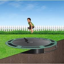 10ft capital in ground trampoline kit green