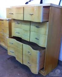 laminate furniture makeover. Retro-blonde-dresser Laminate Furniture Makeover