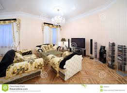Living Room Luxury Furniture Living Room With Luxury Furniture In Classic Style Stock Image