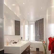 recessed lighting in a bathroom
