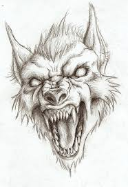 werewolf face drawing.  Drawing Werewolf Head Drawing Not My Art On Face Drawing Pinterest