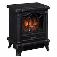 this black freestanding electric stove style fireplace space heater adds charm ambiance and warmth to