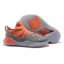 Grey 5 Orange Under Curry Armour Lowcut ash