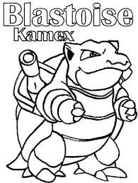 Small Picture Amazing Blastoise Kamex Pokemon Coloring Pages Bulk Color