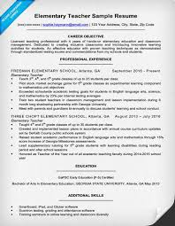 Sample Resume For Teachers Extraordinary Elementary Teacher Resum Stunning Sample Resume Teacher Free