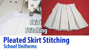 Pleated Skirt Pattern Best Pleated Skirt Stitching For School Uniform Tutorial Like The