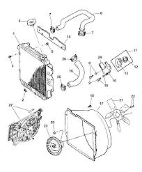 2006 jeep wrangler radiator related parts