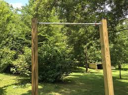 Homemade Parallel Bars And Pull Up Bar  Bar Gym And HomemadeBackyard Pull Up Bar Plans
