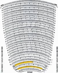 Chrysler Hall Seating Chart With Seat Numbers