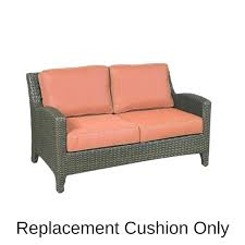 replacement cushions for outdoor furniture loveseat elegance cushion decorating scenic ls 6