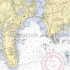 Connecticut Niantic Nautical Chart Decor