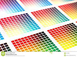 Black Colour Chart Paper Color Chart Stock Image Image Of Green Black Cmyk Colour