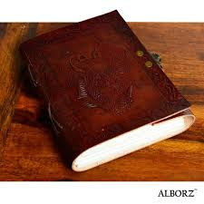 dragon embossed leather journal refillable notebook