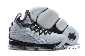 Nike Lebron 15 Grey And Gold New Style