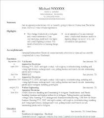 Electrician Resume Cool Electrician Resumes Samples Resume Samples For Electricians