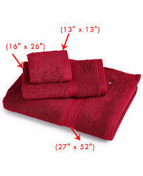 tommy hilfiger bath towel collection 100 cotton 27 x 52 red