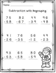 Christmas math, Math and Christmas on PinterestChristmas math--2-digit subtraction with regrouping-FREE--2.