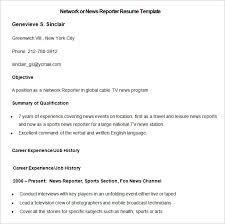 reporter resume