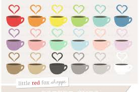 Beige seamless patterns with coffee set,cup, heart, coffee mill and text. Coffee Cup Clipart Graphics Custom Designed Illustrations Creative Market