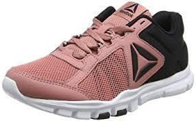 reebok yourflex trainette. reebok women\u0027s yourflex trainette 9.0 mt running shoes, pink (sandy rose/black/ x