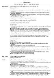 Sample Library Director Resume Library Director Resume Samples Velvet Jobs 1